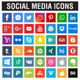 Social massmediasymbolssamling vektor illustrationer