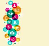 Social massmediasymbolsuppsättning stock illustrationer