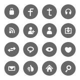Social massmediasymbolsuppsättning royaltyfri illustrationer