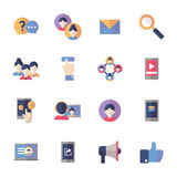 Social massmediasymbolsuppsättning 1 - plan serie Royaltyfri Foto