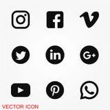 Social massmediasymbolsvektor Royaltyfria Bilder
