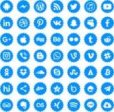 Social massmediasymbolsvektor eps10 royaltyfri illustrationer