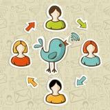 Social matning för medel RSS vektor illustrationer
