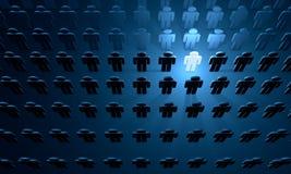 Social matrix (symbolic figures of people) Stock Image