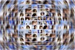 Social medelutvidgning Arkivbilder