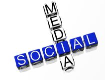 Social Media. Blue text on white background Royalty Free Stock Images