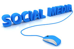 Social media. This is a 3D rendered picture Royalty Free Stock Images