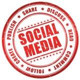Social media. Seal on white background Stock Photos