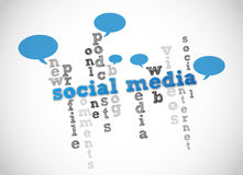 Social media. Abstract vector background Royalty Free Stock Images