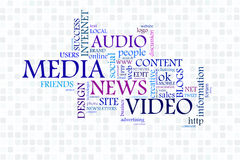 Social Media. High resolution graphic of Social Media speech bubble Royalty Free Stock Photos