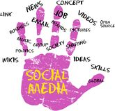 Social media. And social network icon Stock Image