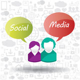 Speech bubble  and social media Royalty Free Stock Images