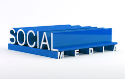 Social media. Text in 3D Royalty Free Stock Photo