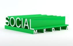 Social media. Text in 3D Royalty Free Illustration
