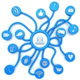 Social Media ilustración del vector