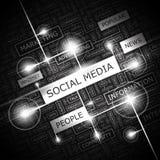 SOCIAL MEDIA Imagen de archivo libre de regalías