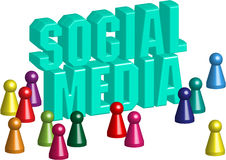 Social media 3d Stock Images