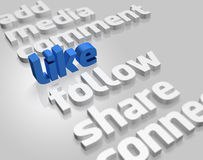 Social Media in 3D Stock Image