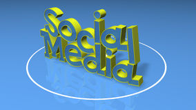 Social Media 3D title Stock Photo