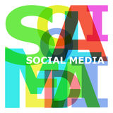 Social media - abstract color letters Stock Images