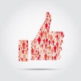 Social media abstract concept Royalty Free Stock Photos