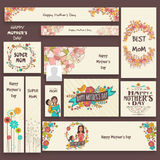 Social media adds or banner for Mother's Day. Stock Photos