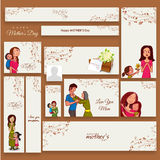 Social media adds or banner for Mother's Day. Stock Image