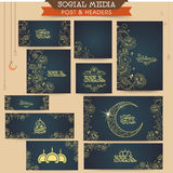 Social media ads, header or banner for Eid celebration. Royalty Free Stock Image