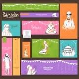 Social media ads, header or banner for Ramadan Kareem. Royalty Free Stock Images