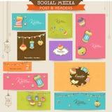 Social media ads or header for Ramadan Kareem celebration. Stock Photography