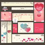Social media ads or post for Valentine's Day. Royalty Free Stock Images