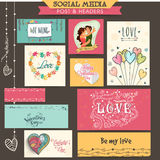Social media ads or post for Valentine's Day. Stock Images