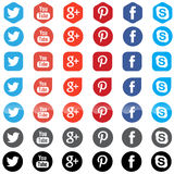Social media app icons Royalty Free Stock Image