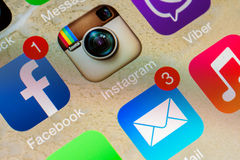 Social Media Applications Royalty Free Stock Photos