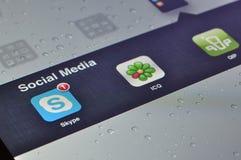 Social Media Applications on Ipad Stock Photo