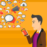 Social media applications. Royalty Free Stock Image