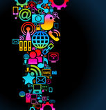 Social Media background. Vector background of the icons social computer network