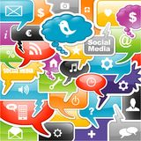Social media background Royalty Free Stock Image