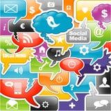 Social media background Royalty Free Stock Image