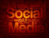 Social media background Royalty Free Stock Photos