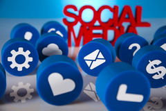 Social media, background Royalty Free Stock Image