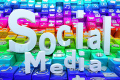 Social media background Stock Images