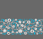Social media, background of the icons vector Stock Images
