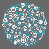 Social media, background of the icons vector. Social media, background of the icons Stock Photo