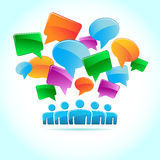 Social media, background of the icons vector. Social media, background of the icons Royalty Free Stock Photos