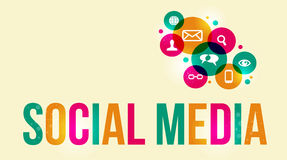 Social media background stock illustration