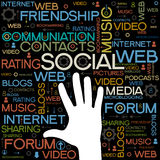 Social Media backgrounds with the words stock illustration
