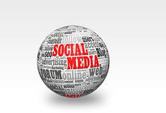 Social Media ball Stock Images