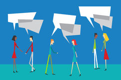 Social Media balloon communication. Social media people speech interaction Royalty Free Stock Images