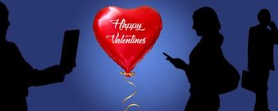 Social media, Baloon, Valentines day. vector illustration